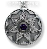 Mandala pendant - sterling silver