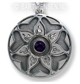 Mandala pendant - silver