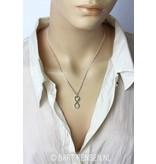 Lemniscaat - Infinity hanger - echt zilver