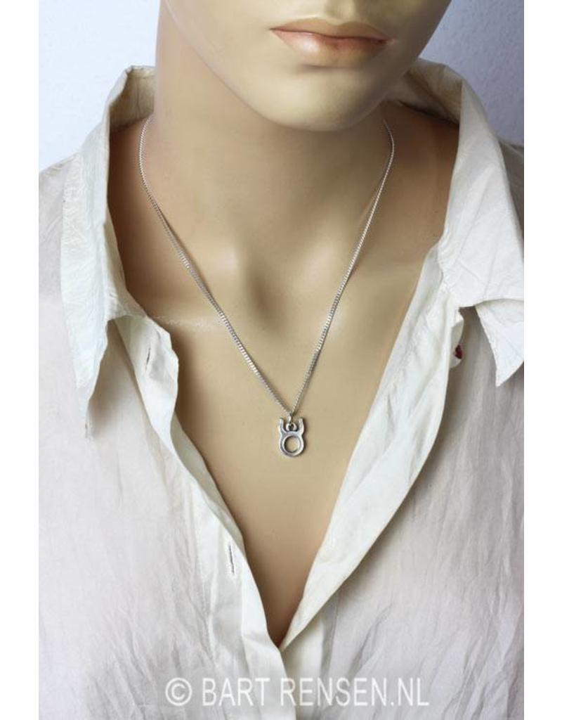 Taurus pendant - sterling silver