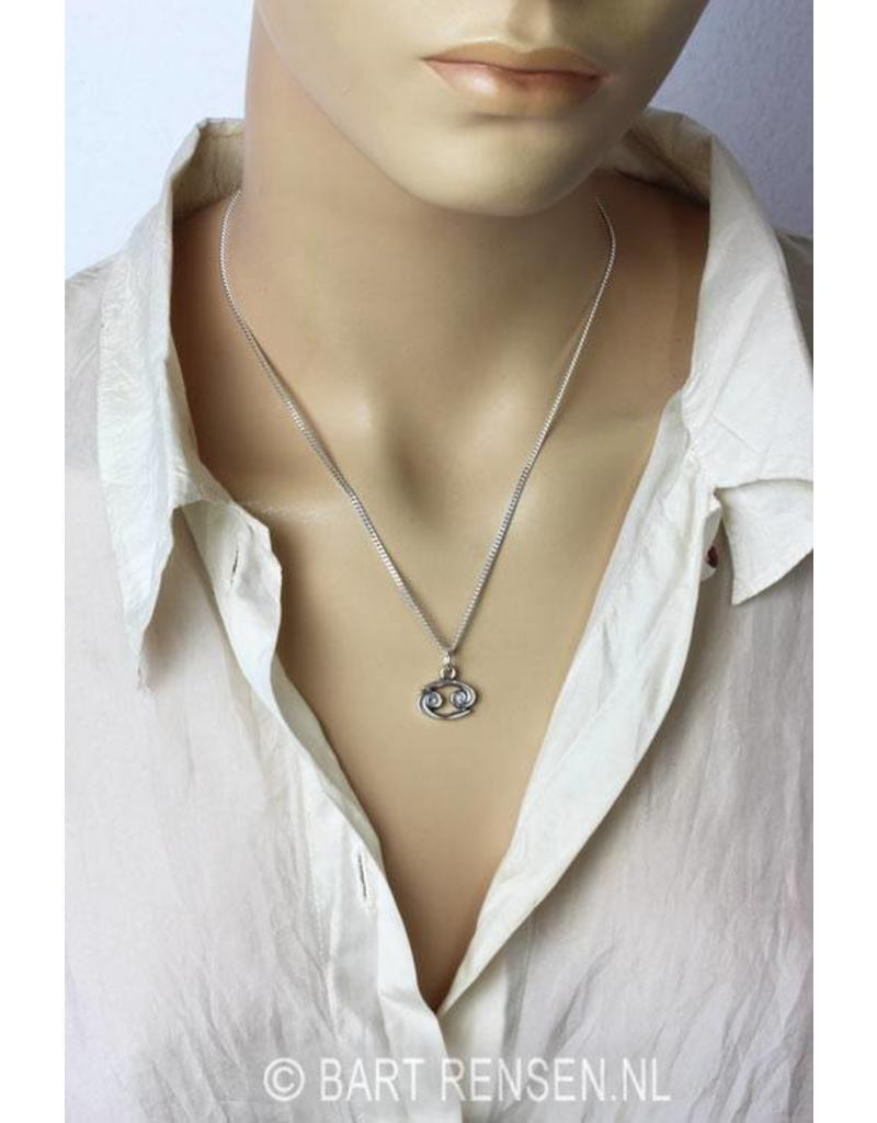 Cancer pendant - sterling silver