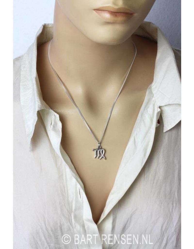 Maagd hanger - echt zilver