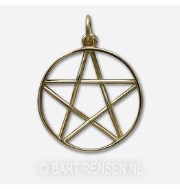 Gouden Pentagram hanger