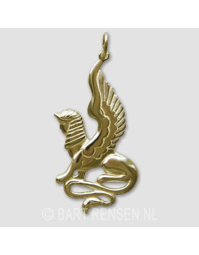 Sfinx hanger - 14 krt goud