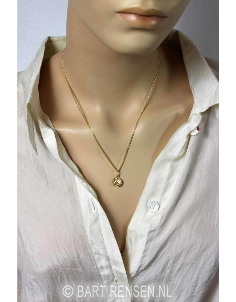 Yin-Yang pendant - 14 crt gold