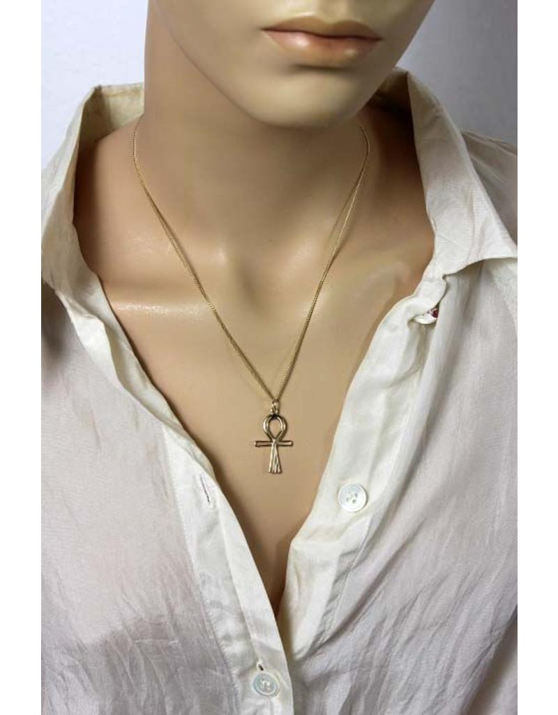 Ankh of isis pendant - 14 crt gold