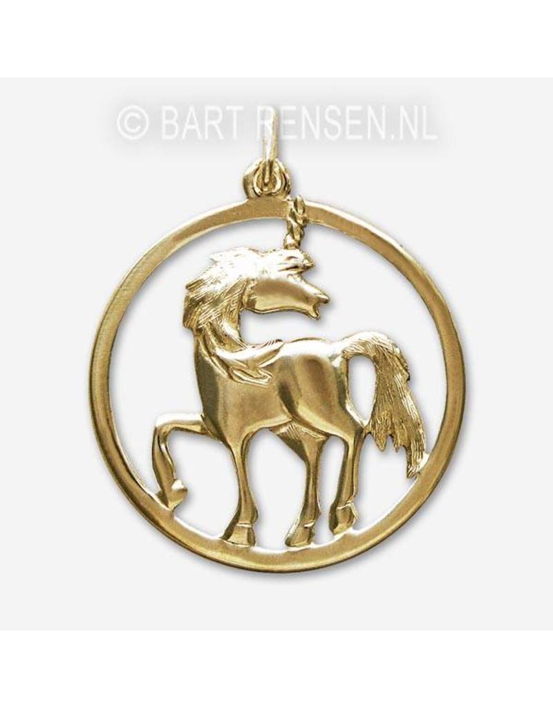 Unicorn pendant - 14 carat gold