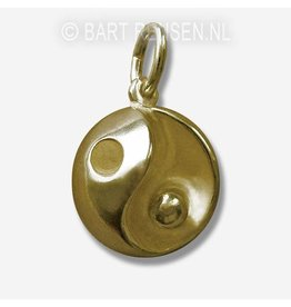 Gouden Yin Yang bol hanger