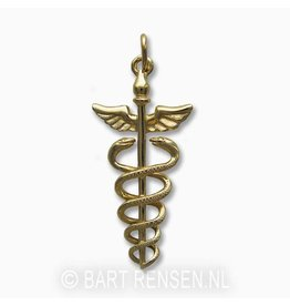 Golden Caduceus pendant
