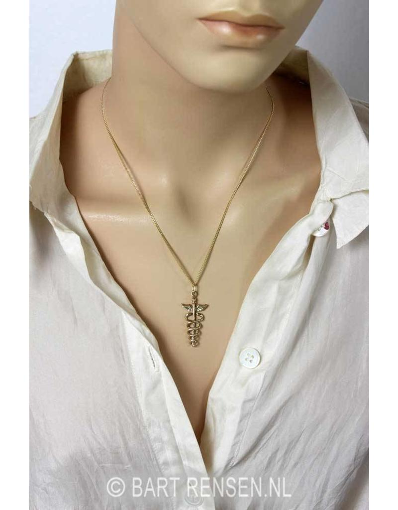 Caduceus pendant - 14 carat gold
