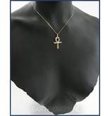 Ankh pendant with Gemstones - 18 krt gold