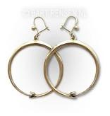 Ouroboros earrings - 14 carat gold