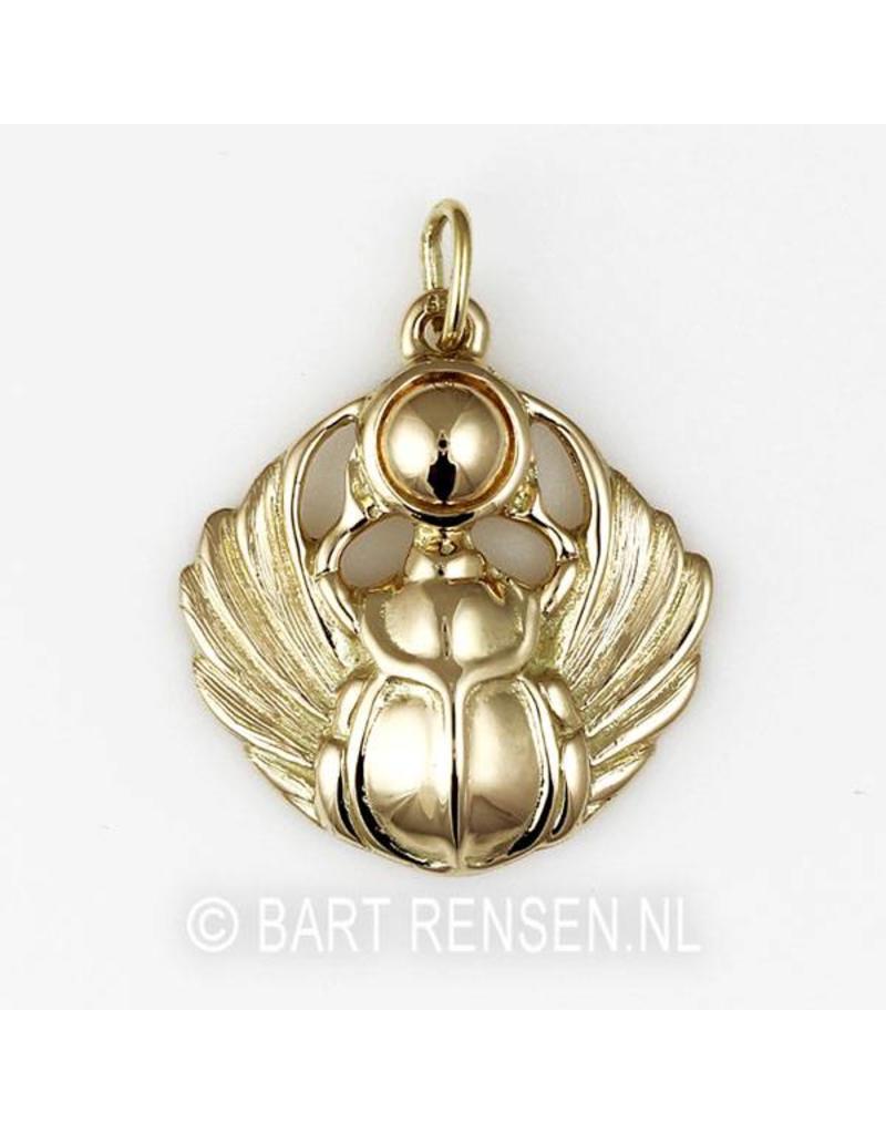Scarab pendant - 14 carat gold