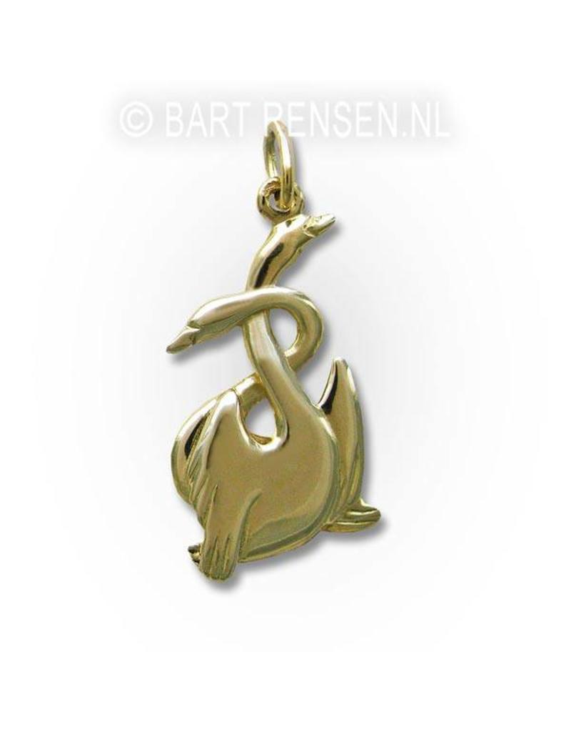 Swan pendant - 14 carat gold