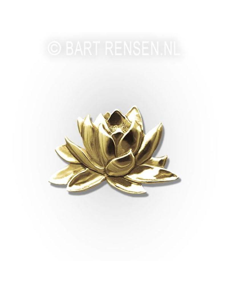 Lotus brooche - 14 carat gold