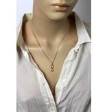 Infinity pendant - 14 carat gold