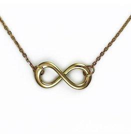 Golden Infinity pendant