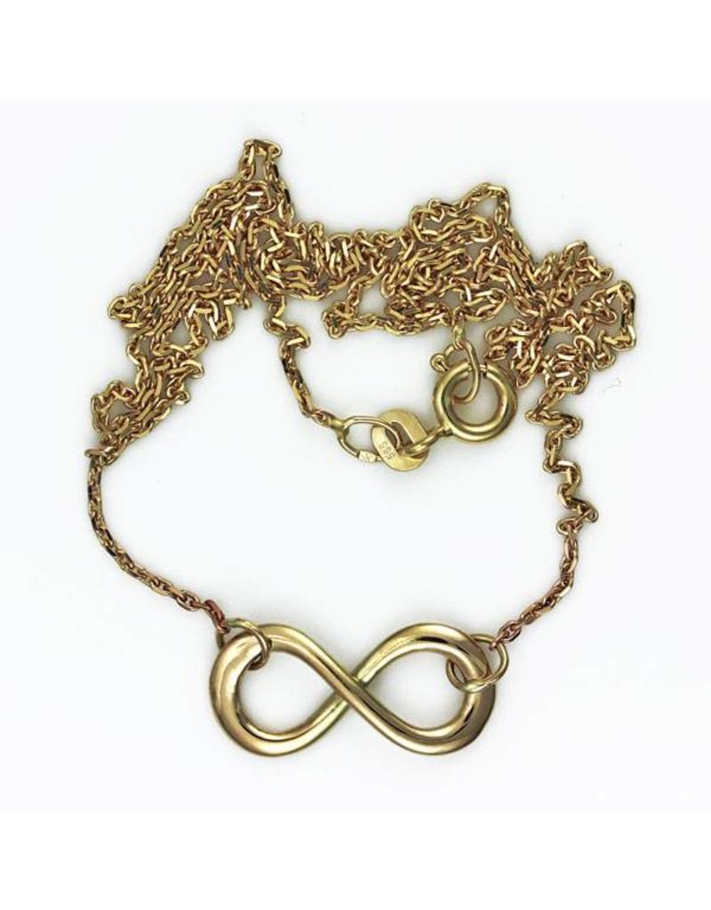 Infinity Lemniscaat hanger - 14 krt goud