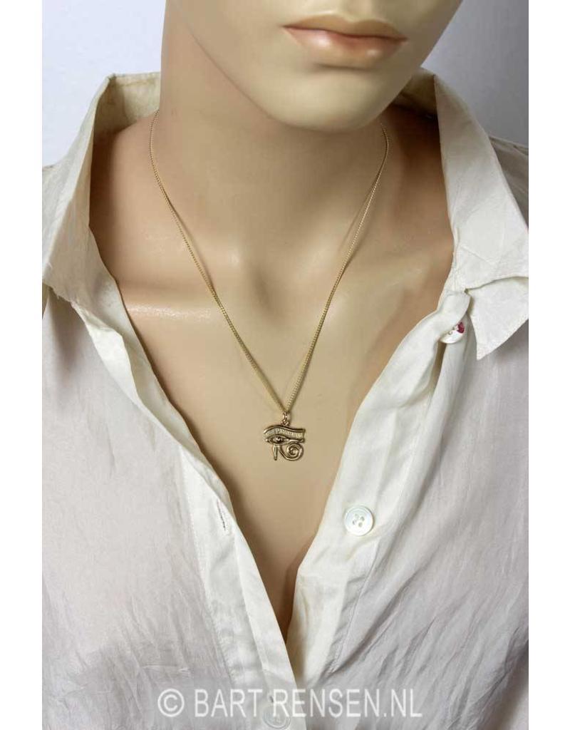 Horus eye (left or right eye) - 14 carat gold