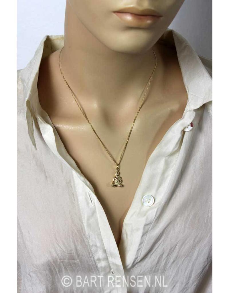 Boeddha hanger - 14 krt goud