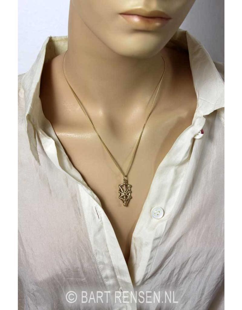 Kabbalah Tree of life pendant - 14 carat gold