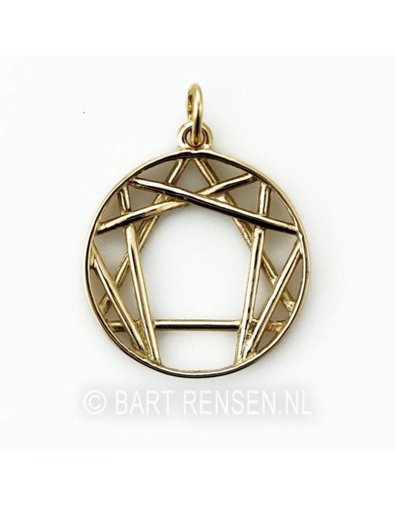 Enneagram hanger - 14 krt goud