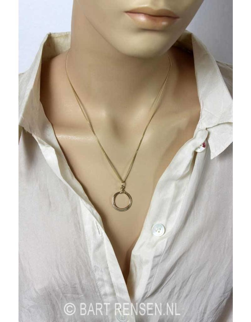 Ouroboros pendant - 14 carat gold