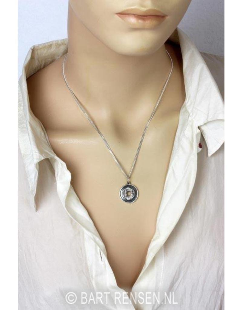Crown Chakra pendant - amethyst - 14 carat gold