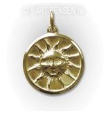 Sun pendant - 14 carat gold