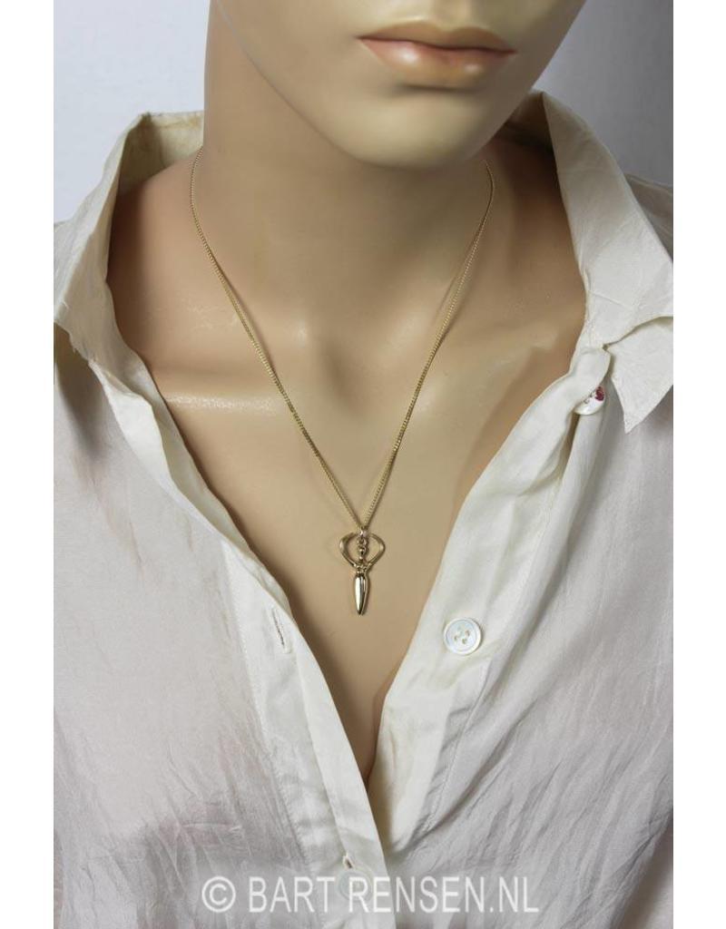 Protect Goddess pendant - 14 carat gold
