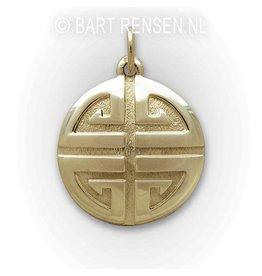 Shou pendant - gold