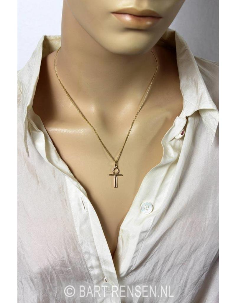 Ankh of Isis pendant - 14 carat gold