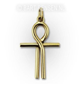 Golden Ankh of Isis pendant -