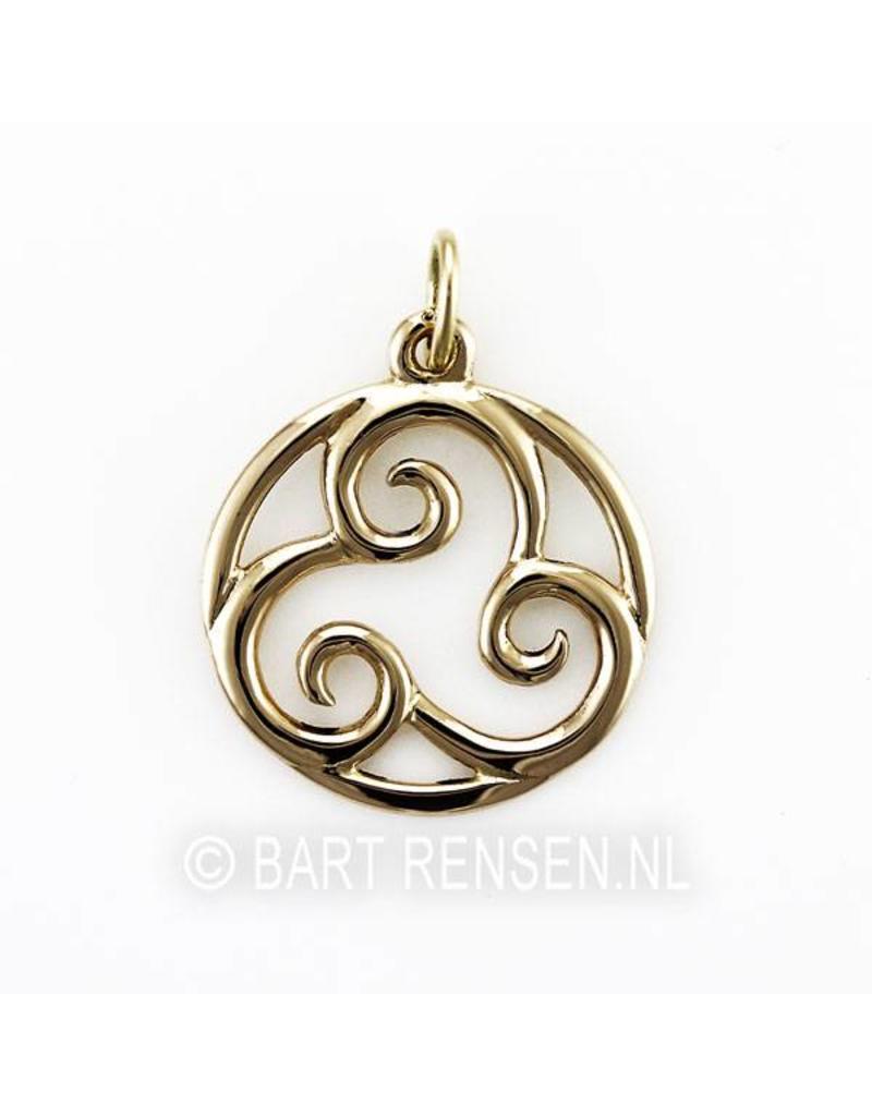 Triskel pendant - 14 carat gold