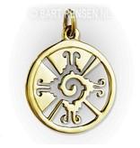 Hunab Ku pendant - 14 carat gold