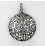 Vredesteken hanger - echt zilver