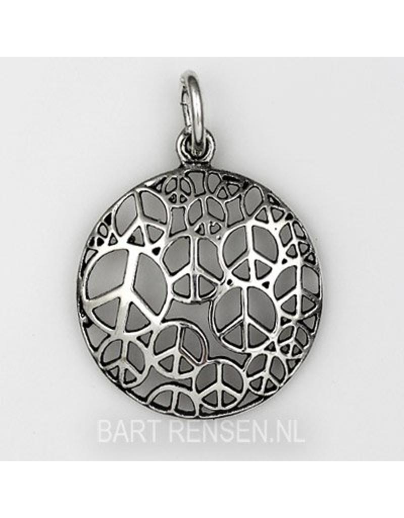 Peace Sign Pendant - sterling silver