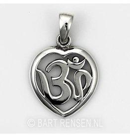 AUM Heart pendant - Silver