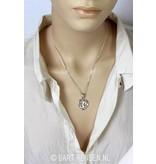 AUM Heart pendant - sterling silver