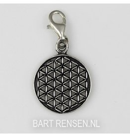 Flower of Life charm - silver