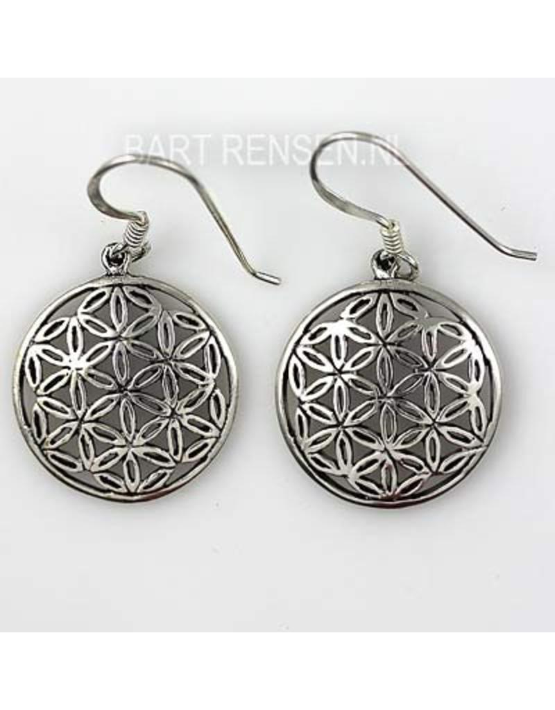 Flower of Life earrings - sterling silver