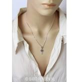 Keltisch Kruis met edelsteen - echt zilver