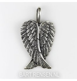 Angel-wings pendant - silver