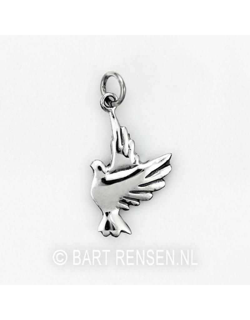 Pigeon pendant - sterling silver or 14 crt gold