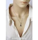 Yoga pendant - sterling silver