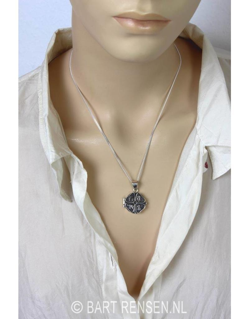 Four Leaf Clover Medaillon - sterling silver
