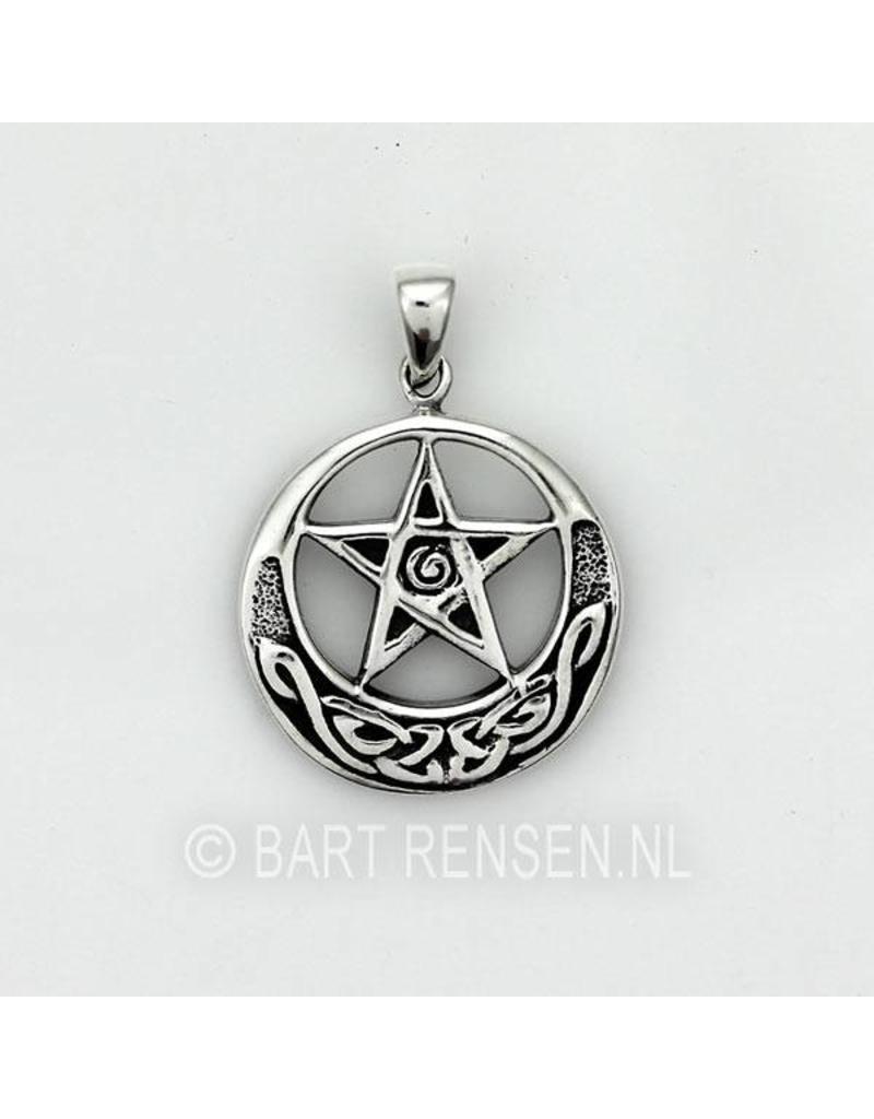 Keltische Pentagram hanger - echt zilver