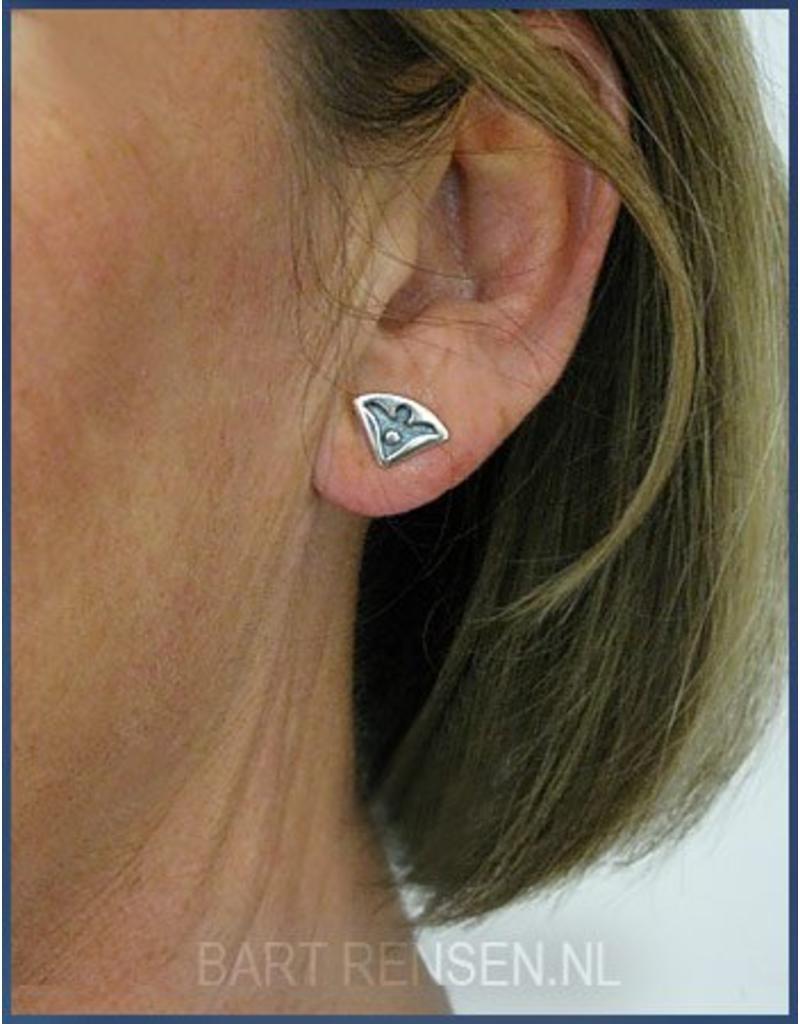 Engel oorknopjes - sterling silver