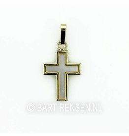 Cross pendant - goud
