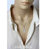 Feather pendant with chain - sterling silver
